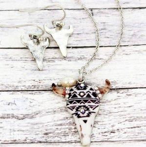 Jewelry - Santa Fe South Western Steer head Necklace set